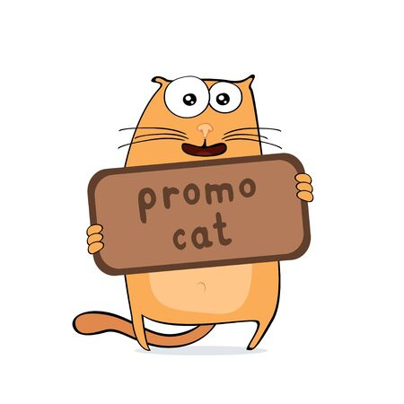 illustration of cartoon cat for your advertisement Vector