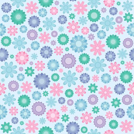 seamless texture with traditional floral ornament Vector