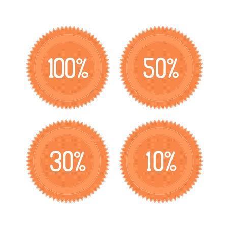 Vector set of orange retro sale icons Stock Vector - 13219841