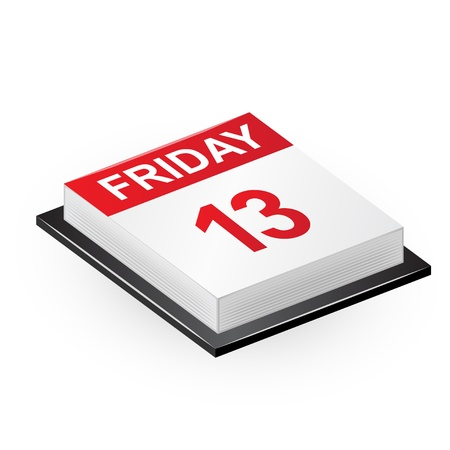 friday 13: Vector illustration of classic calendar  Friday 13