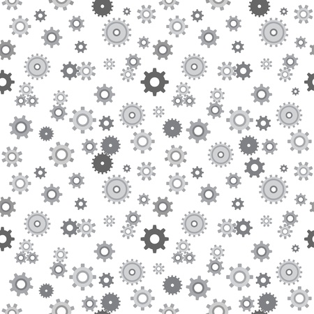 Vector seamless texture with cartoon mechanical pinions  Vector