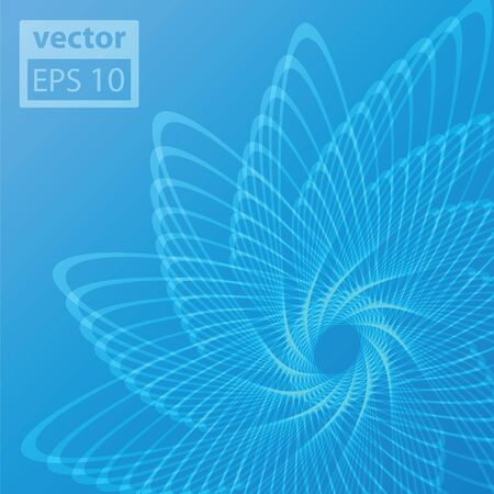 Blue background with abstract spirograph  Vector eps10 illustration  Vector