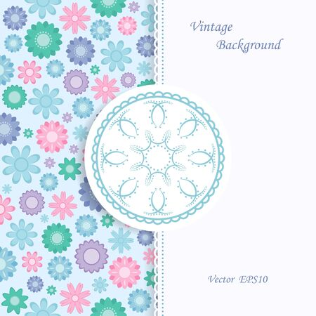 Floral background in vintage style Vector
