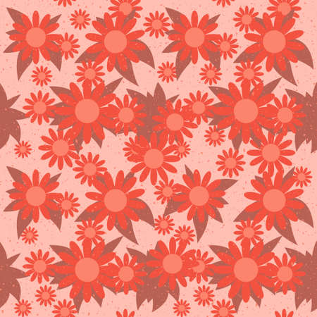 Seamless pattern with red flowers Stock Vector - 14085613