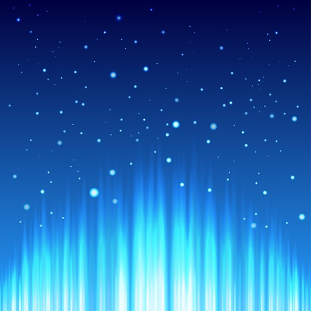 aureola: Abstract background with blue vertical rays and stars