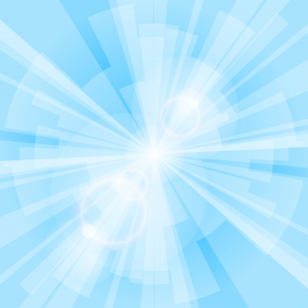 Blue light background with rays  Vector eps10 illustration Vector