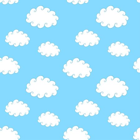 Seamless pattern of vintage clouds  Vector illustration Vector