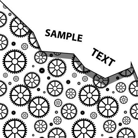 Technology background with mechanical wheels Vector