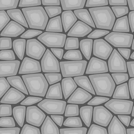 Seamless pattern of gray stone wall  Vector illustration