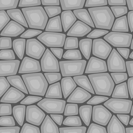 rubble: Sin fisuras patr�n de ilustraci�n vectorial de piedra gris de la pared