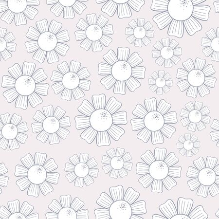 Seamless pattern of white chamomiles Stock Vector - 14398476