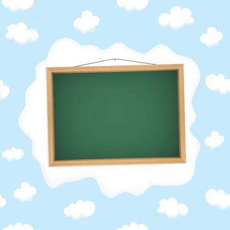 School blackboard in cloudy sky   Vector