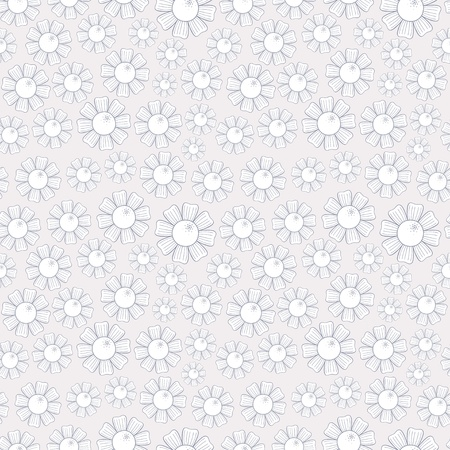 Seamless texture of white chamomiles Stock Vector - 14636425