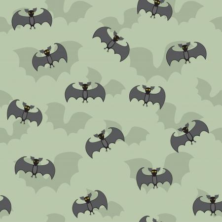 Seamless pattern of cartoon bats Stock Vector - 15147746