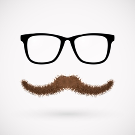 Hipster glasses and mustache   Stock Vector - 16138281