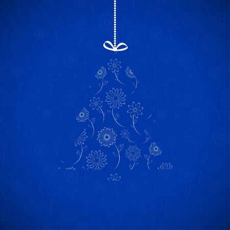 Blue Christmas Card   Vector