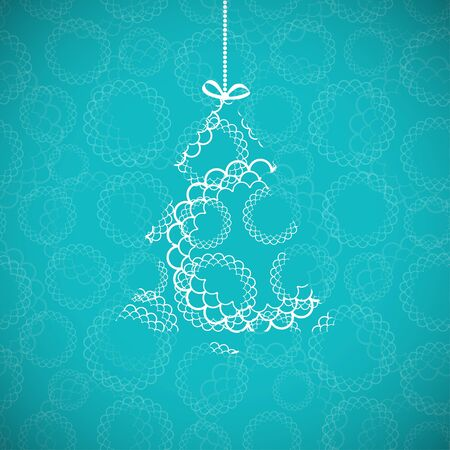 Christmas card with abstract ornament  Vector
