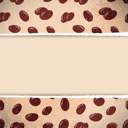 Retro background of coffee beans  Vector illustration  Vector