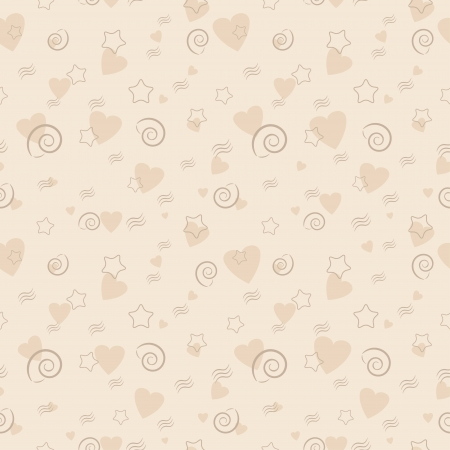 Valentine s Day Marine Seamless Pattern  Vector illustration Vector