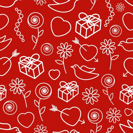 Valentine s Day Seamless Pattern  Vector illustration Stock Vector - 17084720