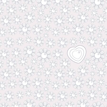 Valentine s Day Chamomile Seamless Pattern  Vector illustration Stock Vector - 17084730