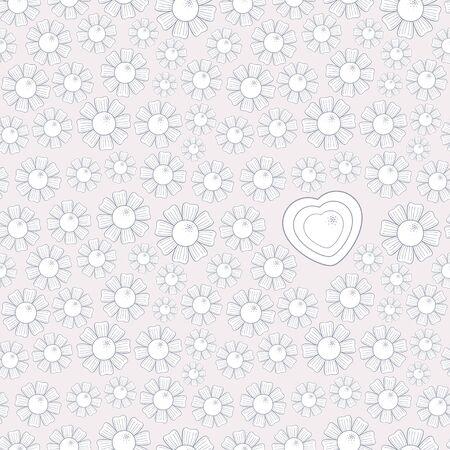Valentine s Day Chamomile Seamless Pattern  Vector illustration Stock Vector - 17084730