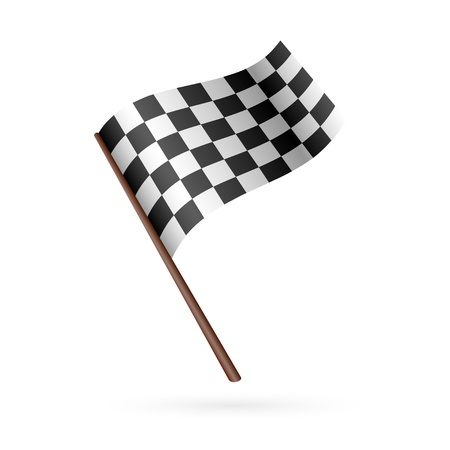 Race Flag Icon  Vector illustration