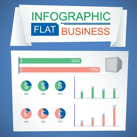 mart: Business infographic flat design  Vector illustration Illustration