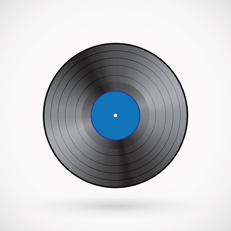 Retro vinyl record  Vector illustration Vector