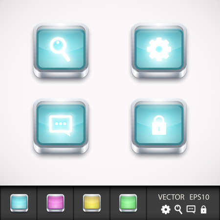 App icons set  Vector illustration Vector