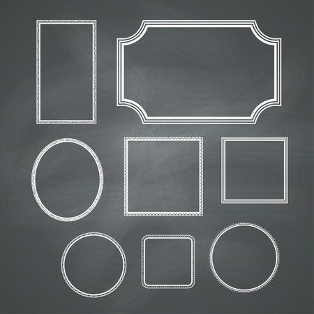 Tableau rétro fond avec les cadres collection de Vector