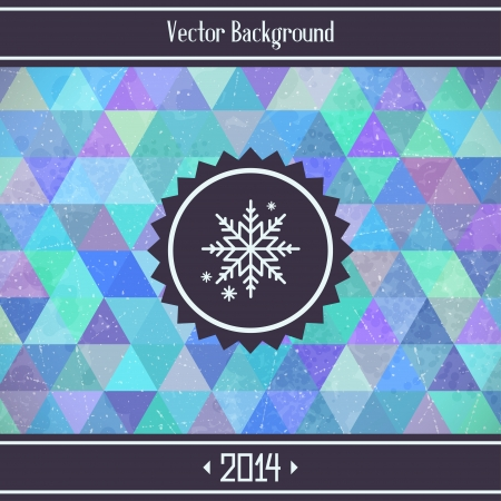 Christmas triangles geometric background  Vector illustration Vector