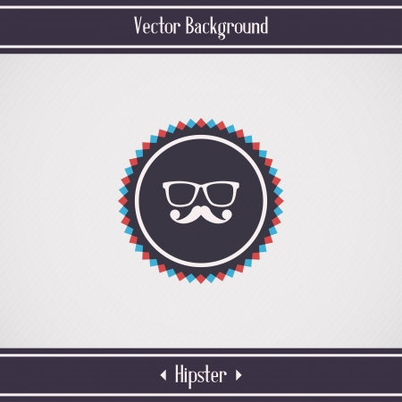 Retro background with hipster glasses and mustache  Vector illustration Vector