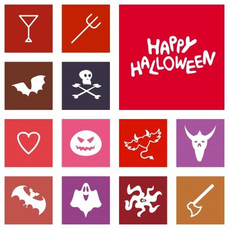Halloween Icons  Vector flat design Vector