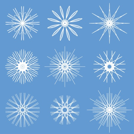 Snowflakes ornamental collection.  Illusztráció