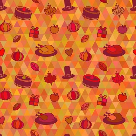 Thanksgiving Day Retro Seamless Texture  Vector pattern Vector