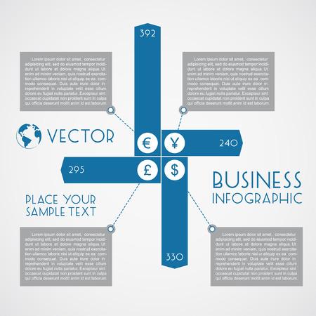 mart: Business infographic. Vector flat design