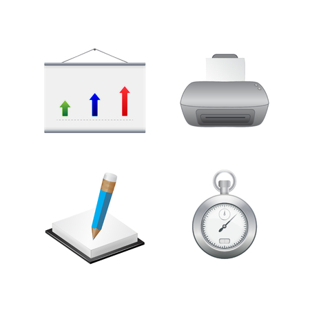 Business icons. Vector set Vector