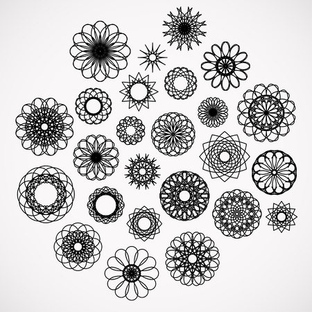 Round ornament set. Vector collection Vector