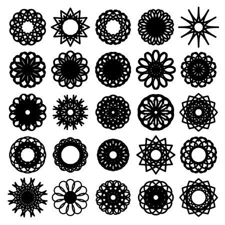 Round symbols set. Vector collection Vector