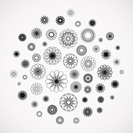Round ornament background. Vector collection Vector