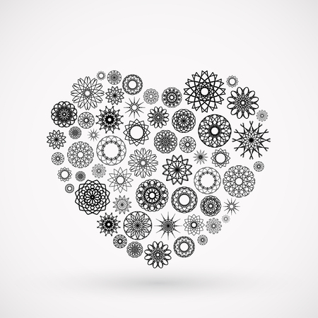 Vector ornamental heart. Valentines day symbol Vector
