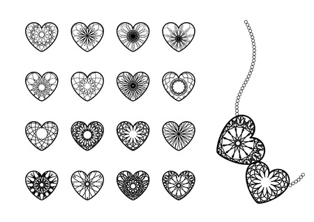 jewellery: Ornamental Herzen Symbole Illustration