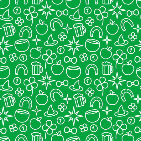 St. Patricks day green background Vector