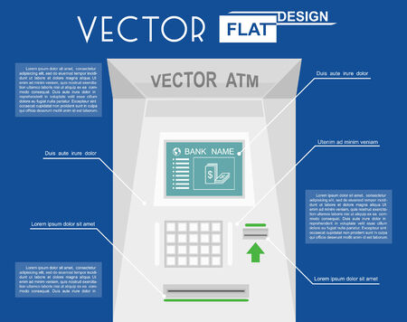 bankomat: atm flat infographic. Vector illustration