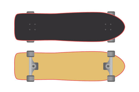 Skateboard isolated on a white background. Vector