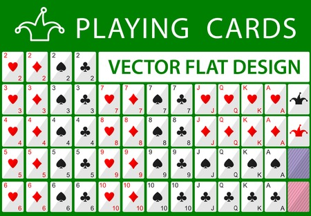 Playing cards  Vector flat game design for app Vector
