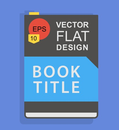 pocket book: Flat book icon with title. Vector background