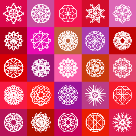 ornamental background: Color ornamental background with squares