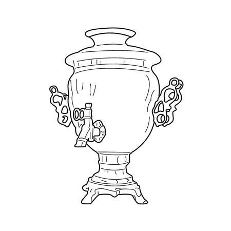 Illustration of Russian samovar  skethnote design Vector